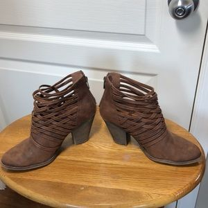 FERGALICIOUS by FERGIE BROWN HIGH HEEL WOVEN BOOTS